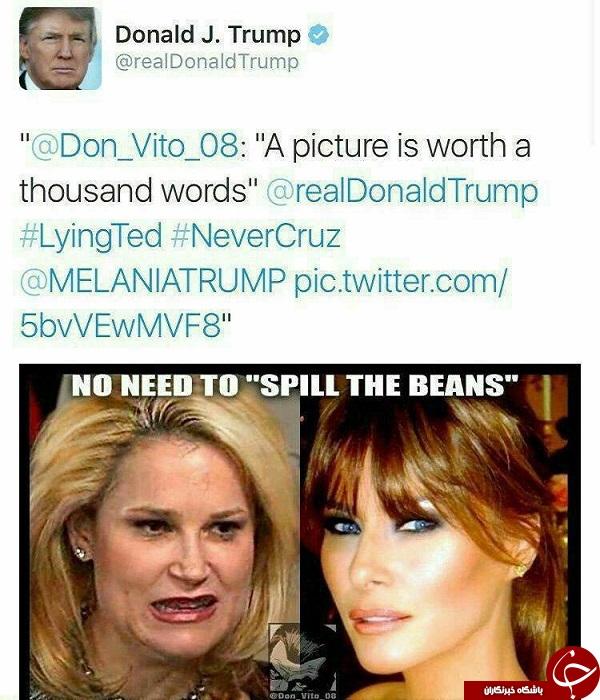 افشاگری ناموسی دونالد ترامپ علیه همسر تد کروز+عکس