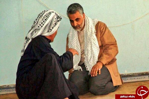 درد و دل پیر مرد جنوبی با حاج قاسم سلیمانی + تصویر