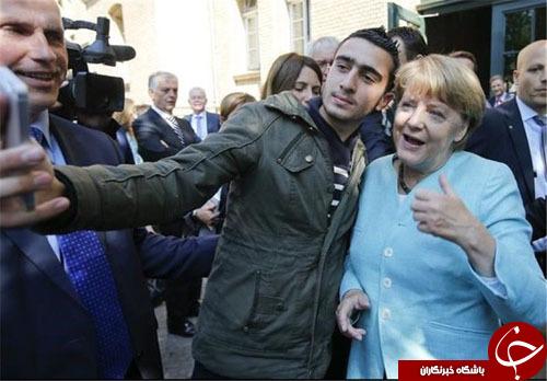 سلفی آنگلا مرکل با عامل بمبگذاری بروکسل و پاریس+ تصاویر