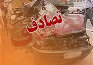 تصادف مرگبار دو خودرو سنگین در جاده قدیم قم - تهران
