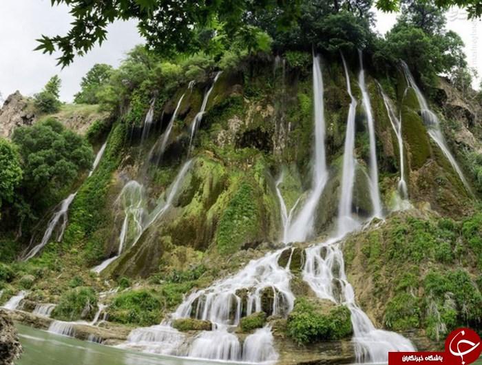عکس/ آبشاری شگفت انگیز در لرستان