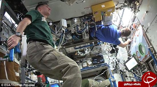 فضانوردان هم در چالش مانکن شرکت کردند +تصاویر