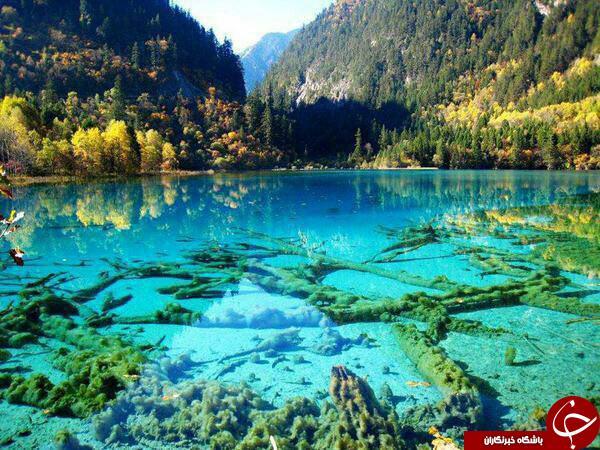 تصویر شگفت انگیز و بی نظیر از دریاچه بلوری