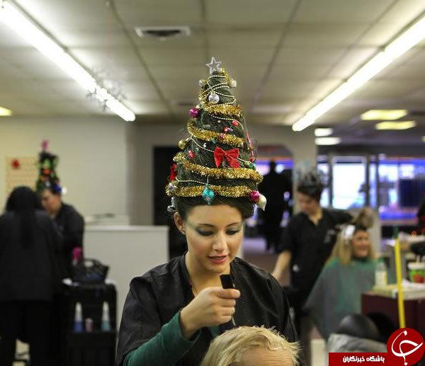 عجیب ترین مدل موی فانتزی مخصوص کریسمس 2017 + تصاویر