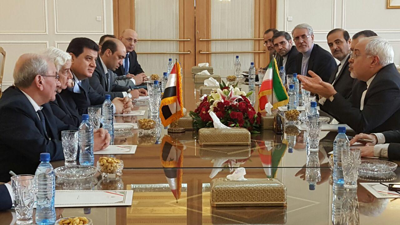 وزیر خارجه سوریه با محمدجواد ظریف دیدار کرد