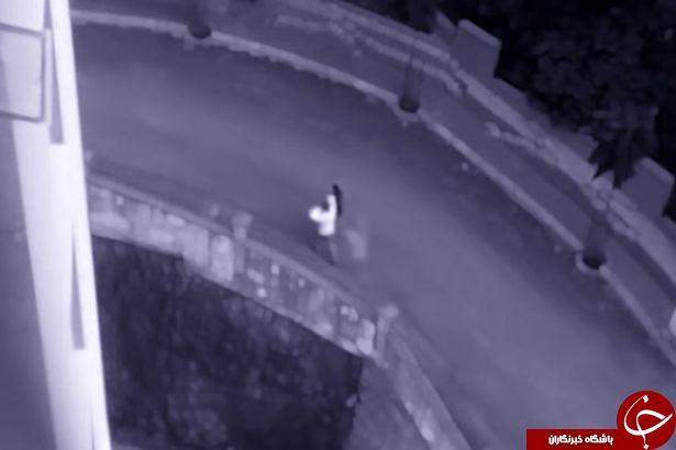 دوربین مدار بسته یک خانه صحنه ای وحشتناک ضبط کرد+ فیلم(18+)