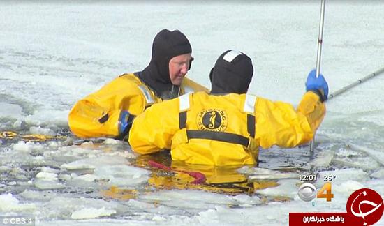 کشف جنازه در برکه یخ زده +تصاویر