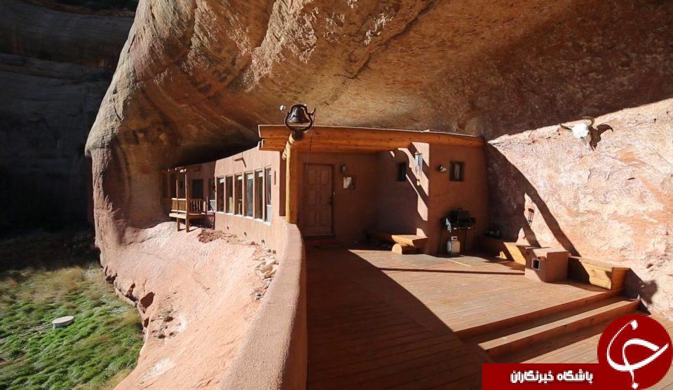 خانه ای که به سبک دوره پارینه سنگی ساخته شده است+ تصاویر