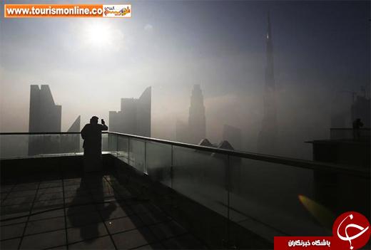عکس/ بلندترین برج دنیا در مه