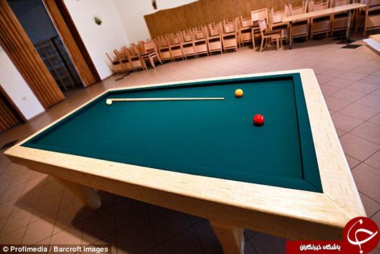 میز بیلیارد چوب کبریتی +تصاویر
