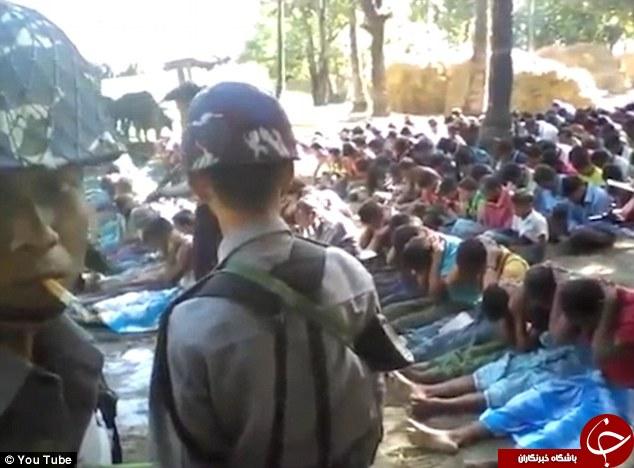 حمله وحشیانه بوداییان افراطی به مسلمانان +فیلم