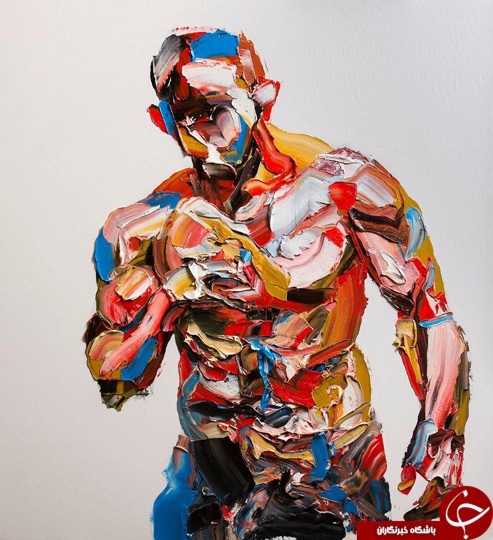 پرتره های بی نظیر نقاشی شده با کاردک+ عکس
