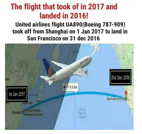 Image result for پرواز یونایتد ایرلاین مسافرین این هواپیما دوبار سال نو را جشن گرفتند
