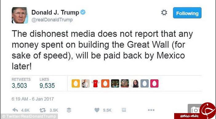 پاسخ دندان شکن رئیس جمهور سابق مکزیک به ترامپ +توئیت