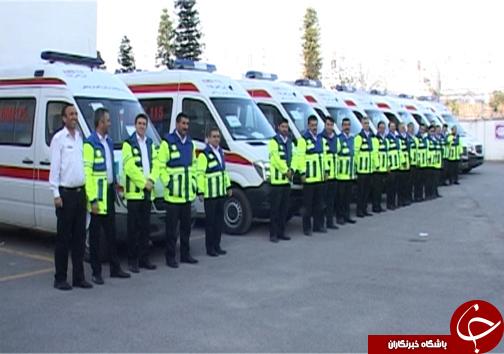 جایگزینی 22 آمبولانس ناوگان اورژانس مازندران + تصاویر