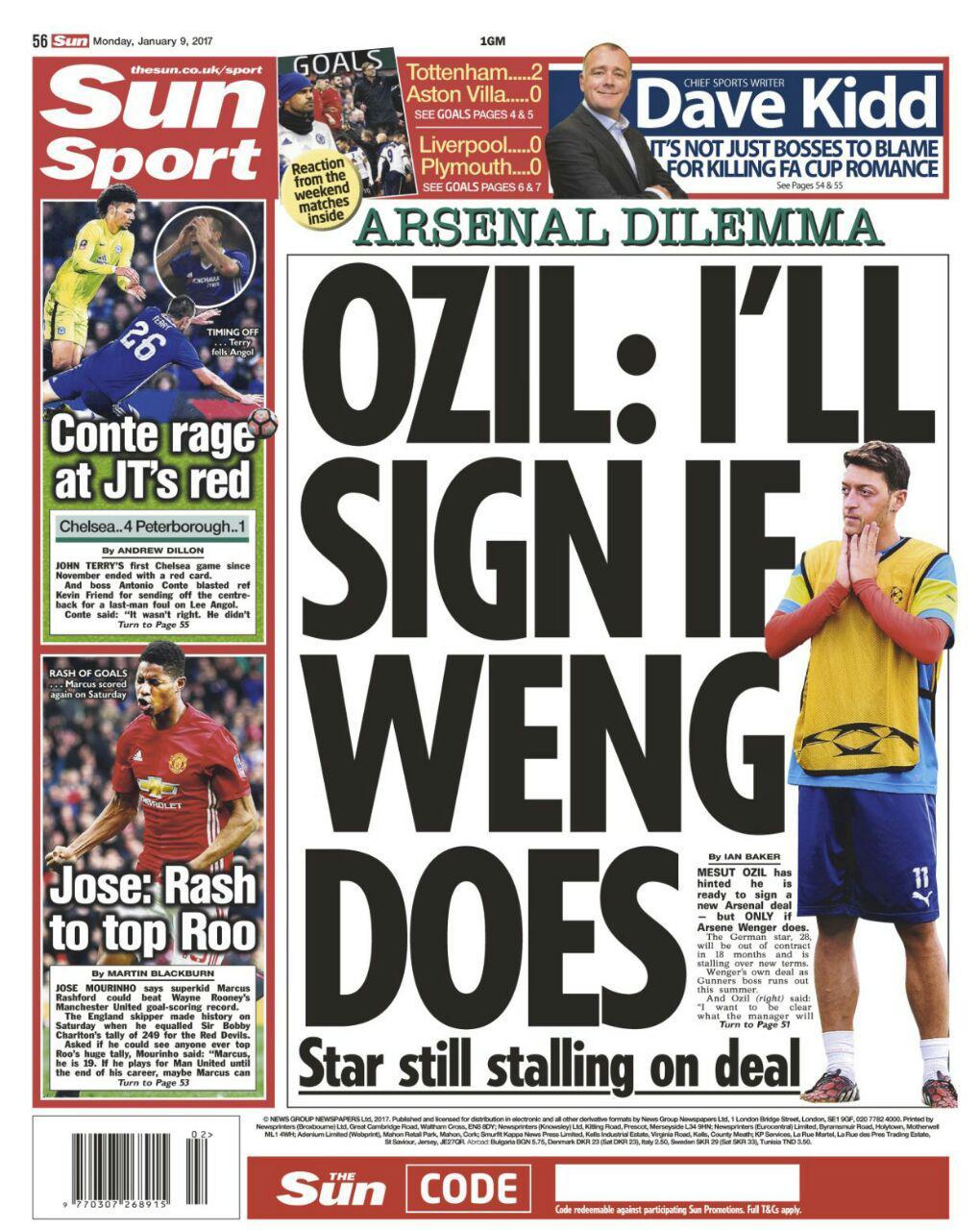 شرط عجیب اوزیل برای تمدید قرارداد با توپچی های لندنی / آمار جالب شش کارت قرمز اخیر چلسی