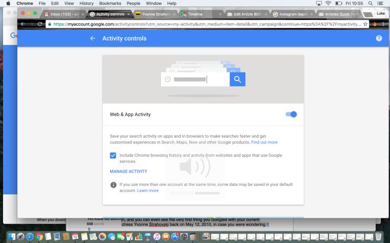 چگونه می توانیم کل تاریخچه جستجوی گوگل خود را ببینیم