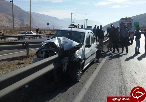 3 کشته و مصدوم در انحراف خودرو+تصویر