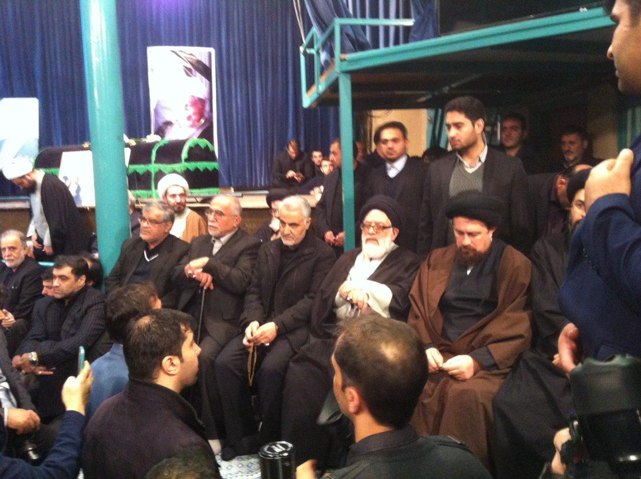 سردار سلیمانی در مراسم بزرگداشت آیت الله هاشمی رفسنجانی حضور یافت+ تصویر