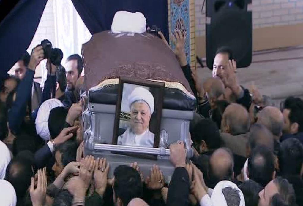 حضور ایوبی و سینماگران در مراسم تشییع آیت الله هاشمی رفسنجانی