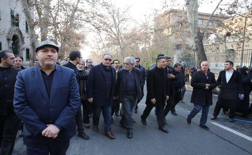 حضور ایوبی و سینماگران در مراسم تشییع پیکر آیت الله هاشمی رفسنجانی