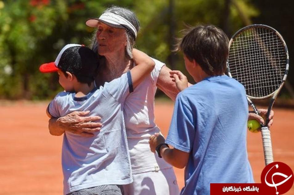 مادر بزرگ ۸۳ ساله ستاره «تنیس» میشود + عکس