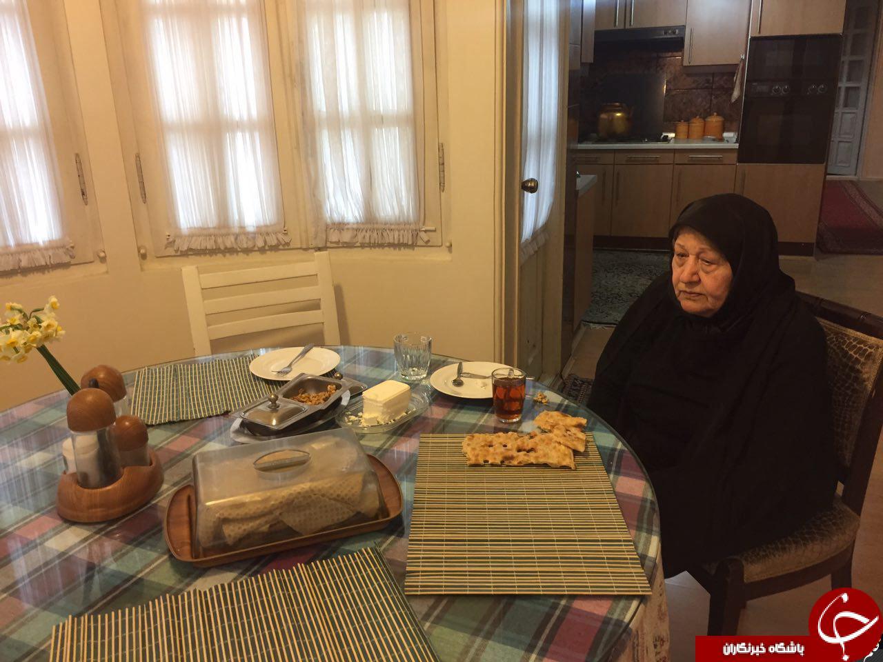 میز صبحانه امروز عفت مرعشی +عکس