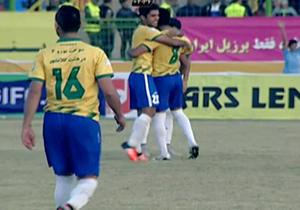 گل برتری تیم نفت آبادان در برابر صبای قم + فیلم