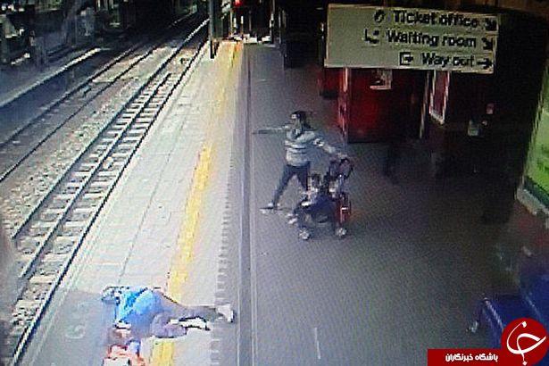 غفلت در انجام وظیفه توسط راننده قطار، جان مسافر زن را به خطر انداخت+ تصاویر