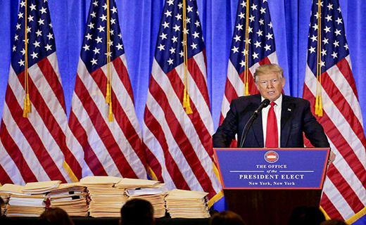 ترامپ در نخستین کنفرانس مطبوعاتی: علاقه پوتین به من امتیاز بزرگی است/کلینتون سوالات مناظره را از قبل در اختیار داشت