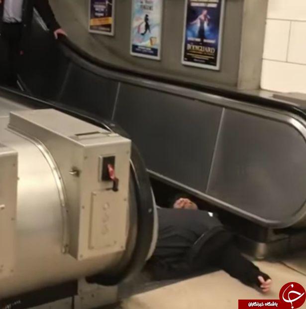 شیرین کاری مسافر در ایستگاه مترو کار دستش داد+ تصاویر