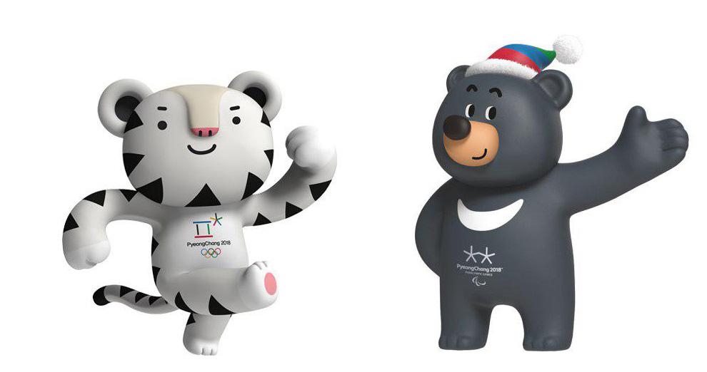 ببر سفید و خرس سیاه نماد بازیهای المپیک زمستانی 2018