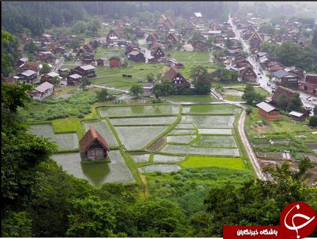 روستایی در ژاپن که برای تحمل سرمای سخت طراحی شده است