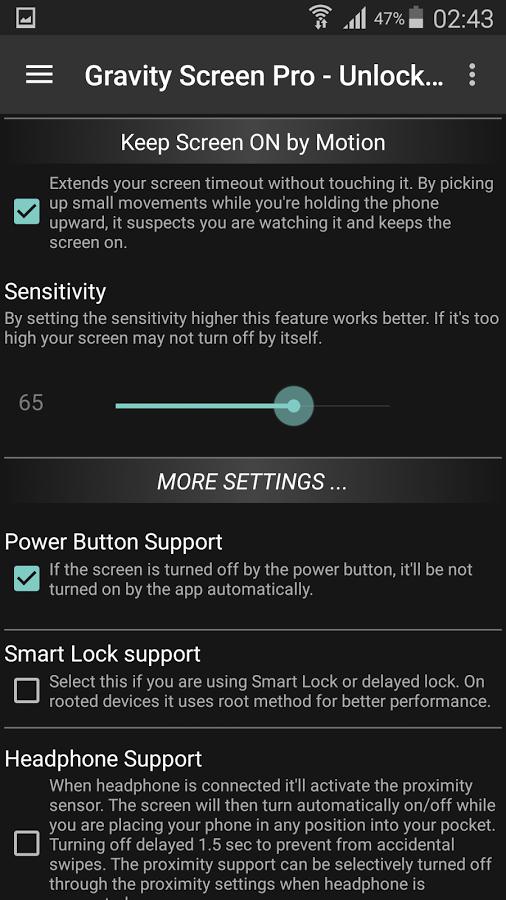 دانلود Gravity Screen Pro – On/Off برای اندروید / روشن و خاموش شدن صفحه گوشی به طور خودکار