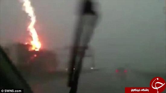 لحظه انفجار کامیون +تصاویر