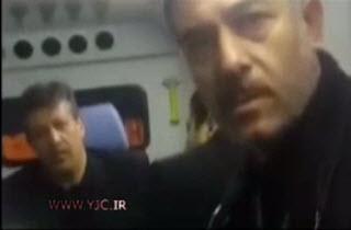 فیلم سلفی با پیکر آیت الله هاشمی در آمبولانس