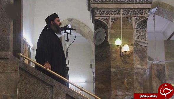 رزمندگان حشدالشعبی در محل ایراد خطبه معروف ابوبکر البغدادی +عکس