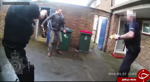 مرد خلاف کار با چکش به جان نیروی پلیس افتاد + فیلم