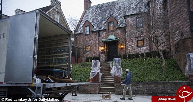 اوباما به خانه جدید اثاثکشی کرد +تصاویر