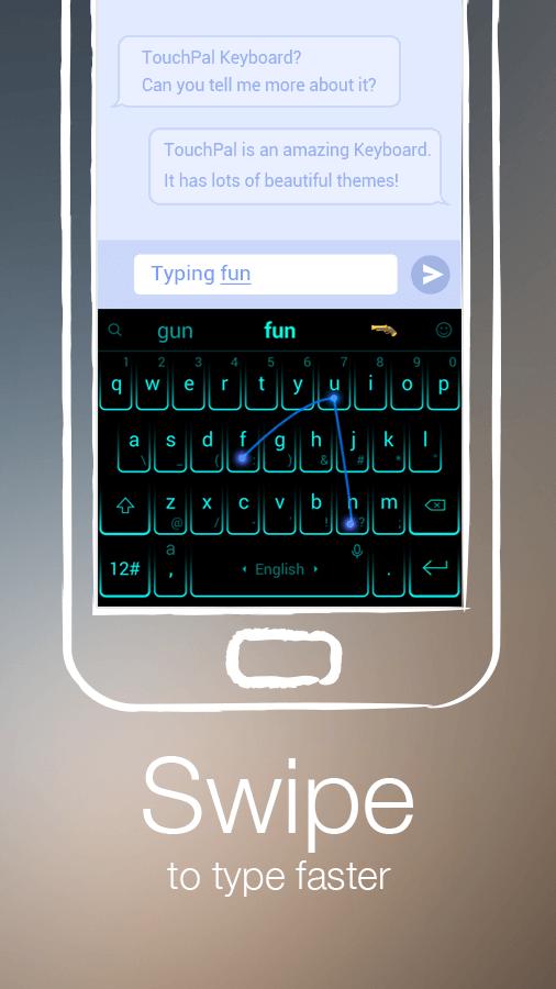 دانلود TouchPal Keyboard برای اندروید و Ios / صفحه کلید حرفه ای برای اندورید
