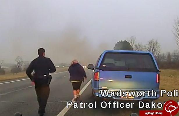 تصاویری از قهرمان بازی یک پلیس برای نجات مادربزرگ