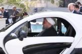 باشگاه خبرنگاران - رانندگی-رئیسجمهور-با-خودرو-برقی-فیلم-و-تصاویر