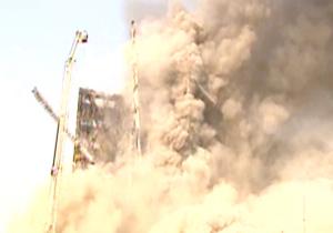 عکس و فیلم لحظه فرو ریختن ساختمان پلاسکو تهران امروز ۳۰ دی ۹۵