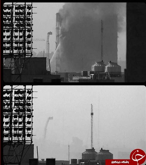 تصویر بودن و نبودن ساختمان پلاسکو در یک زاویه +عکس