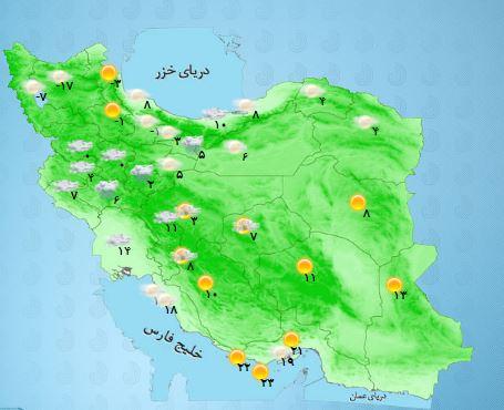 وزش باد و رعد و برق در مناطق جنوبی کشور+ جدول