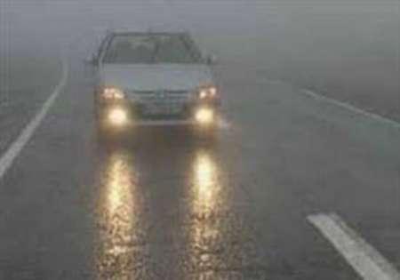 مه گرفتگی وکاهش دید در برخی جاده های خراسان رضوی