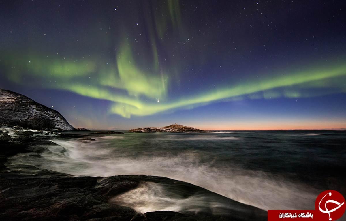 تصاویری زیبا از شفق قطبی
