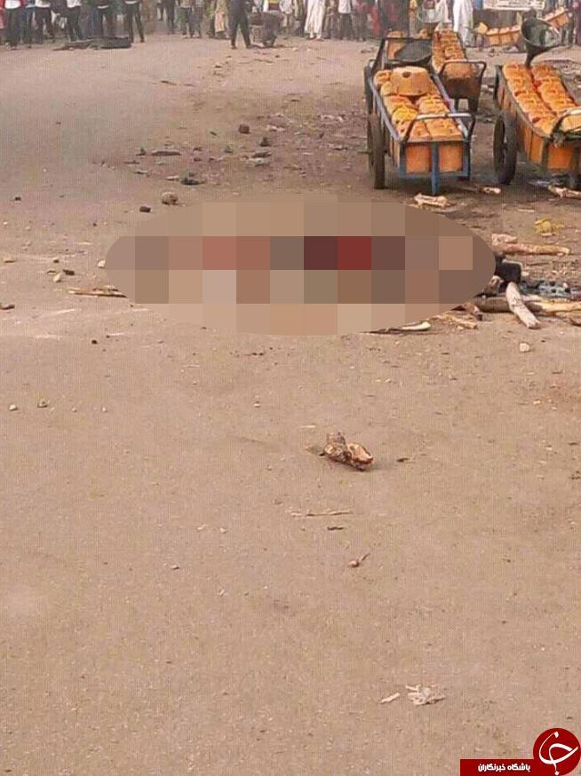 مهاجم زن انتحاری تا سر حد مرگ کتک خورد+تصاویر(18+)