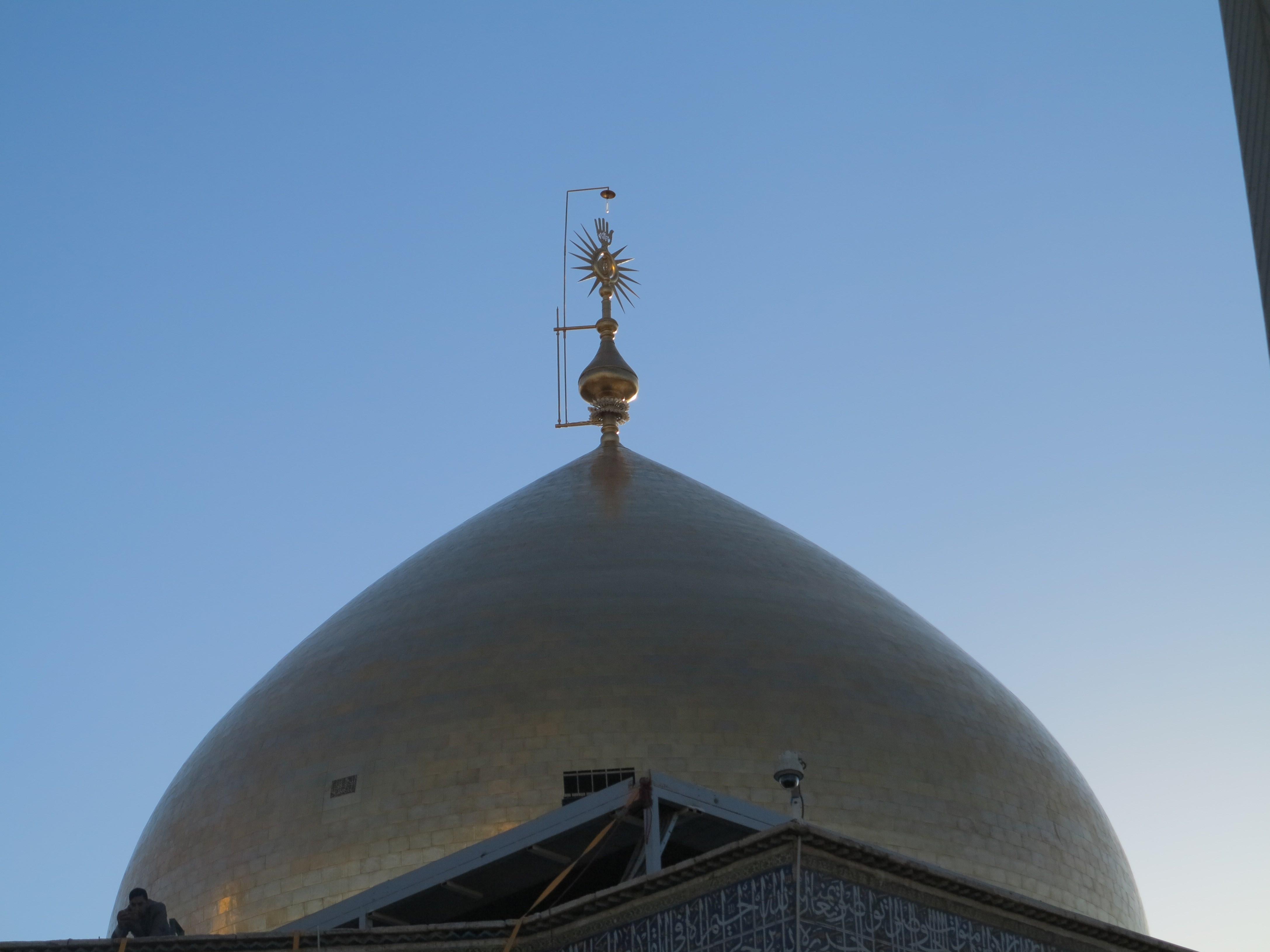 تصویر گنبد جدید حضرت علی (ع)