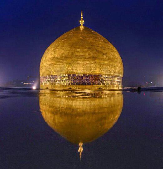 تصاویری از گنبد جدید حضرت علی (ع)